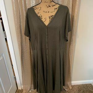 Worn once Torrid Button Up Dress